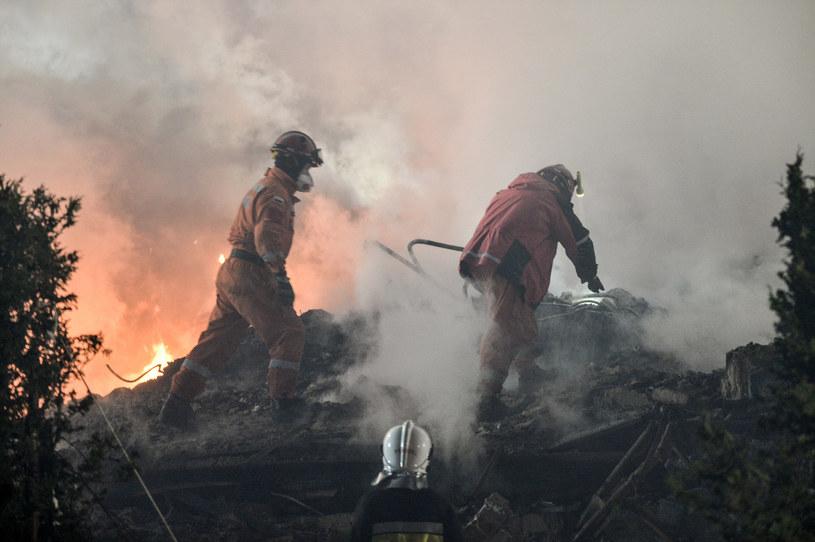 Akcja na miejscu wybuchu w Szczyrku /Łukasz Kalinowski /East News