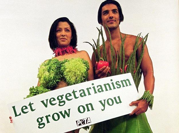 Akcja organizacji Peta promująca wegetarianizm /AFP