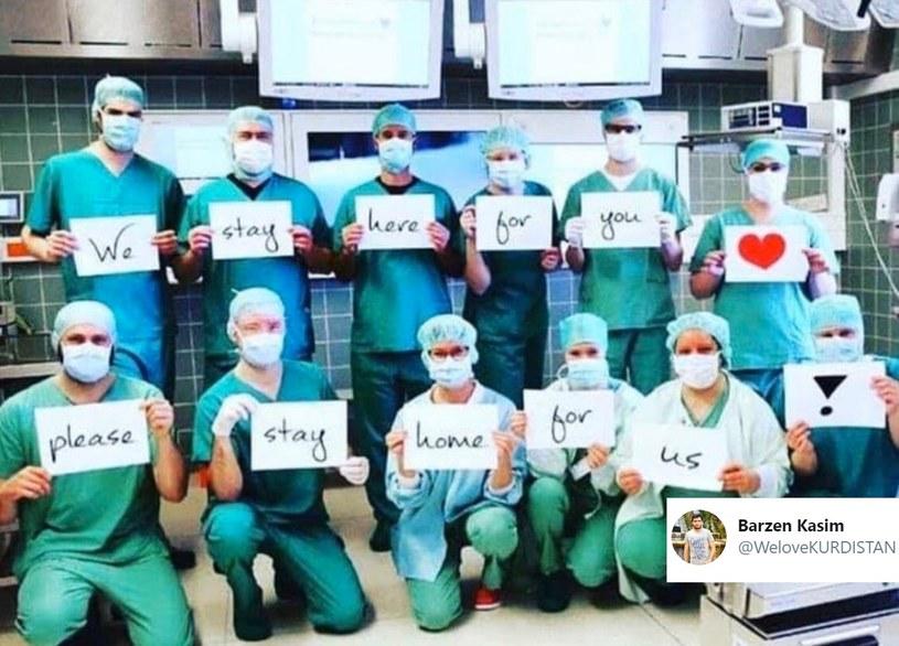 Akcja personelu medycznego w mediach społecznościowych /