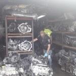 Akcja policji. Funkcjonariusze odnaleźli składowisko kradzionych części samochodowych