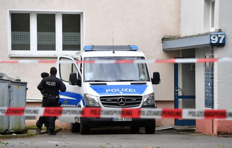 Akcja policji w Chemnitz /Hendrik Schmidt /PAP