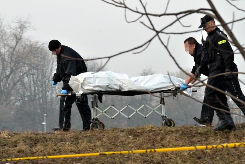 Akcja policji; Z Wisły w okolicy stopnia wodnego Dąbie wyłowiono ciało mężczyzny /Artur Barbarowski /East News