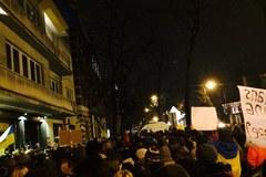 Akcja poparcia dla protestujących na Majdanie