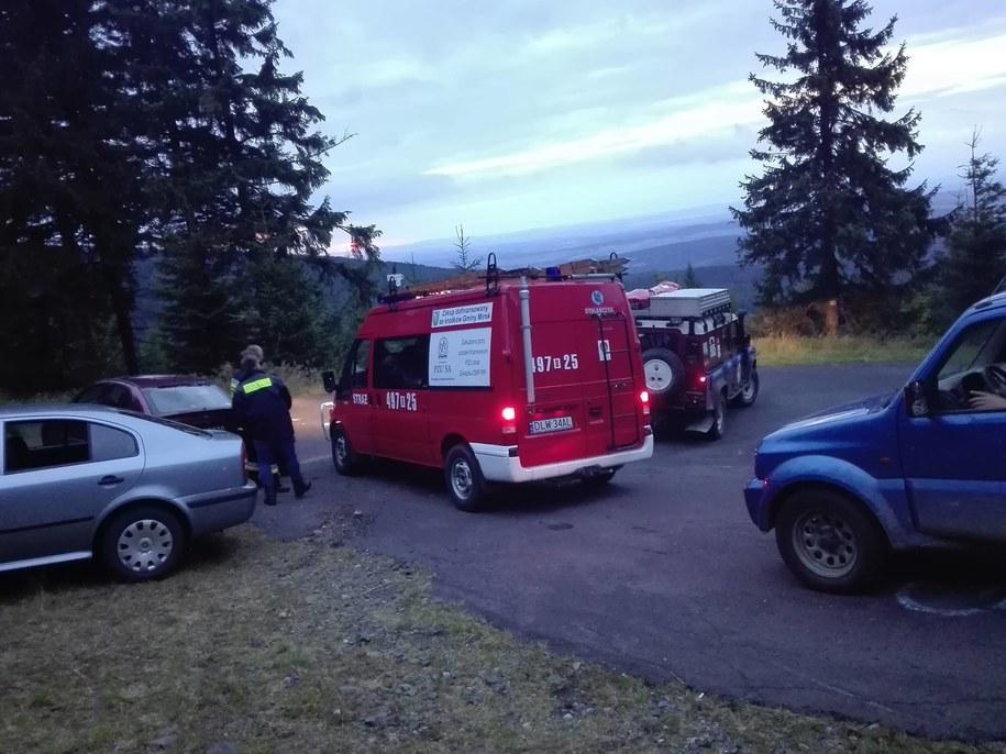 Akcja poszukiwawcza w rejonie Gór Izerskich /foto. Policja Lwówek Śląski/Facebook /