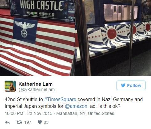 Akcja promocyjna w nowojorskim metrze /Twitter /internet