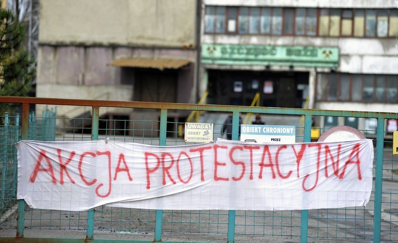 Akcja protestacyjno-strajkowa w śląskich kopalniach /Łukasz Kalinowski /East News
