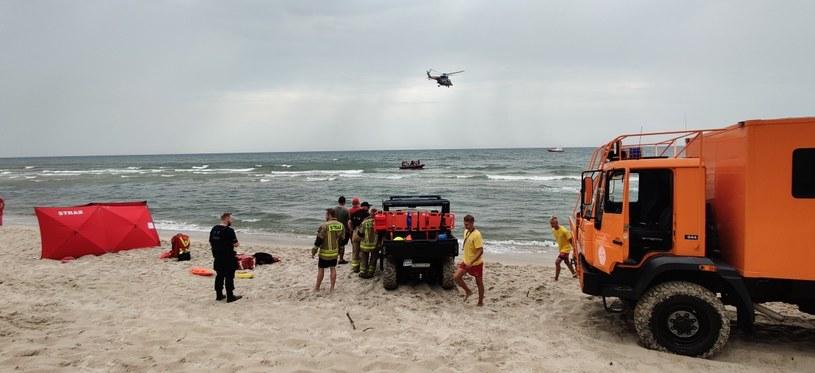 Akcja ratownicza na Bałtyku (Źródło: Morska Służba Poszukiwania i Ratownictwa) /facebook.com