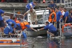 Akcja ratownicza na rzece Moskwa