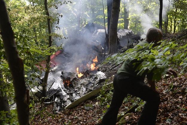 Akcja ratunkowa była prowadzona w trudnych warunkach, w górach /RADOVAN STOKLASA /PAP/EPA