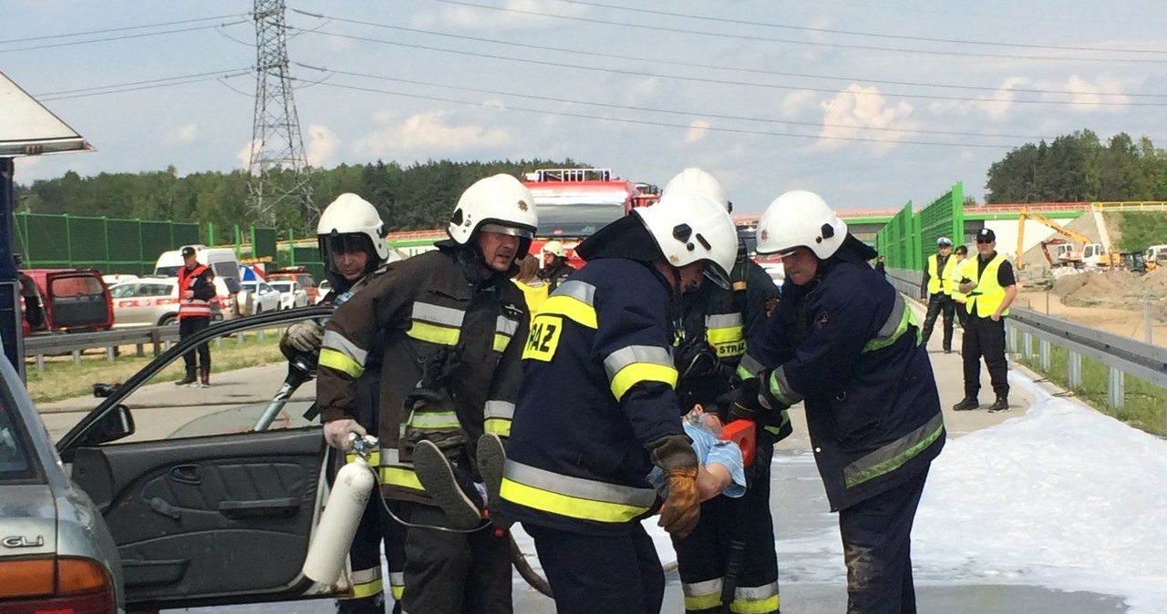 Akcja ratunkowa na A1. Spokojnie, to tylko ćwiczenia