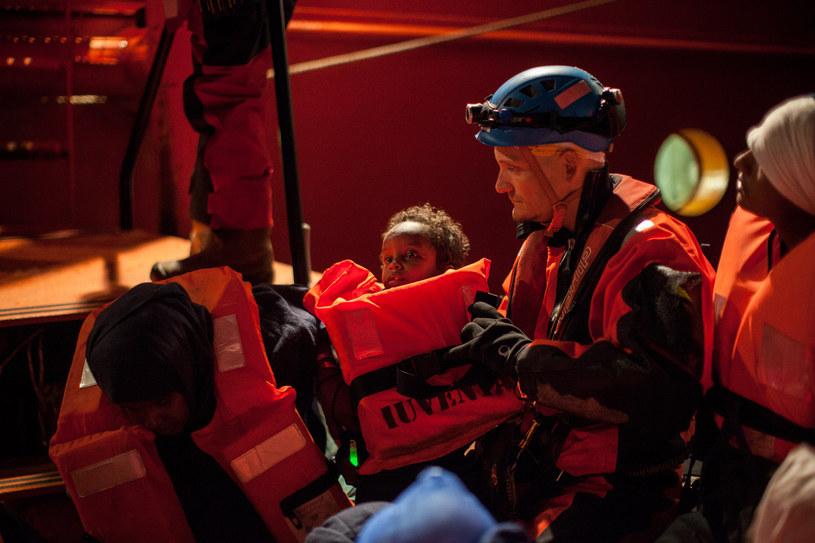 Akcja ratunkowa na Morzu Śródziemnym (arch.) /AFP