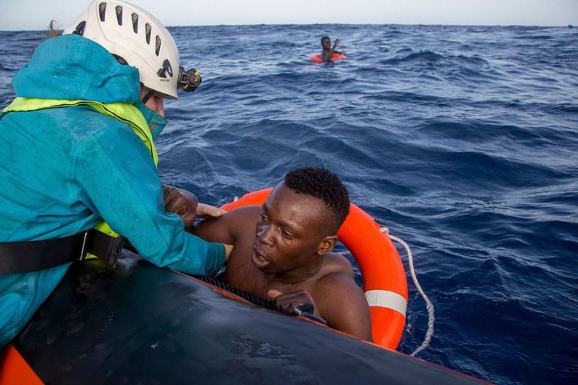 Akcja ratunkowa na Morzu Śródziemnym, zdjęcie ilustracyjne /AFP