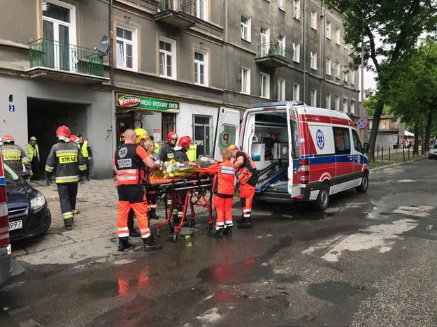 Akcja ratunkowa przy ulicy Lubartowskiej w Lublinie /Krzysztof Kot /RMF FM
