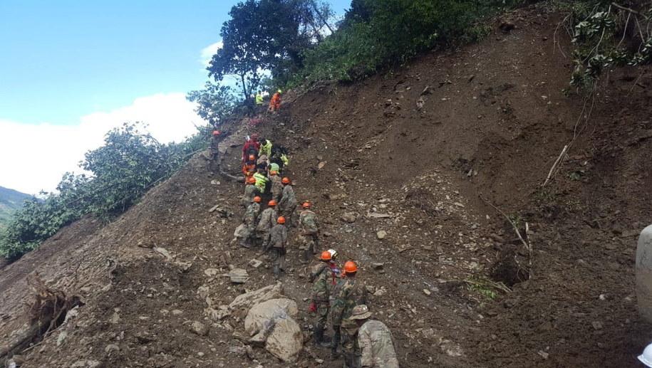 Akcja ratunkowa w Boliwii /DEFENSE MINISTRY HANDOUT /PAP/EPA