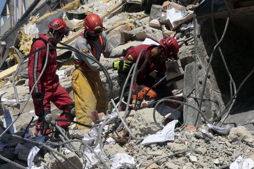 Akcja ratunkowa w Ekwadorze /Juan Cevallos / AFP /AFP