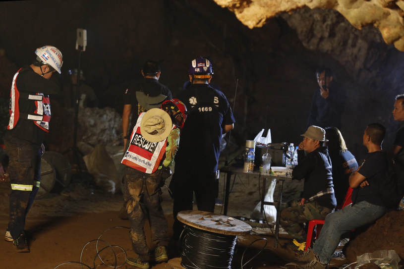 Akcja ratunkowa w jaskini Tham Luang w Tajlandii /Krit Promsakla Na Sakolnakorn / THAI NEWS PIX /AFP