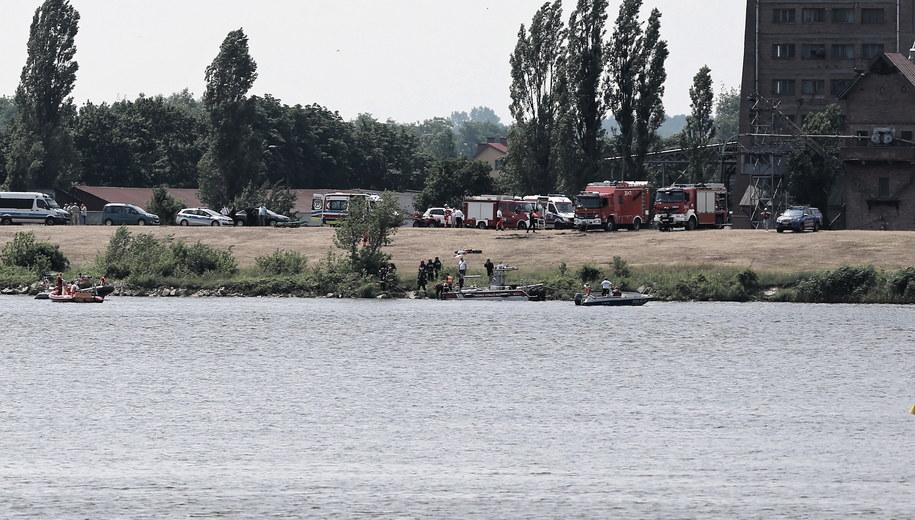 Akcja ratunkowa w Płocku /Piotr Augustyniak /PAP