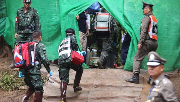 Akcja ratunkowa w Tajlandii /CHIANG RAI PR OFFICE /PAP/EPA