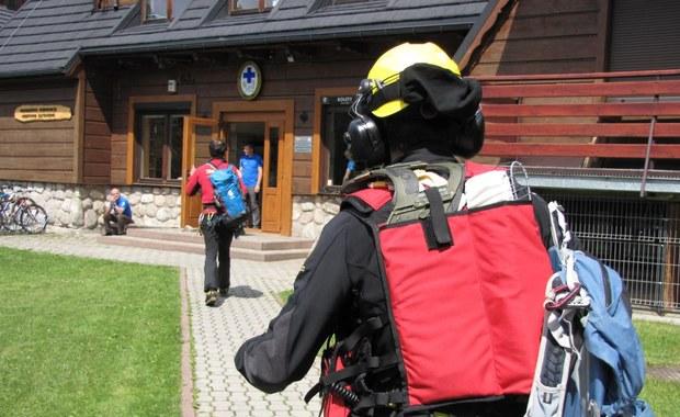 Akcja ratunkowa w Tatrach. Turysta w poważnym stanie trafił do szpitala