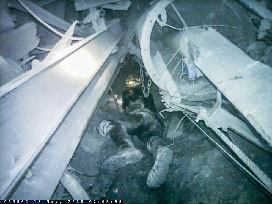 Akcja ratunkowa w Zofiówce /JSW /