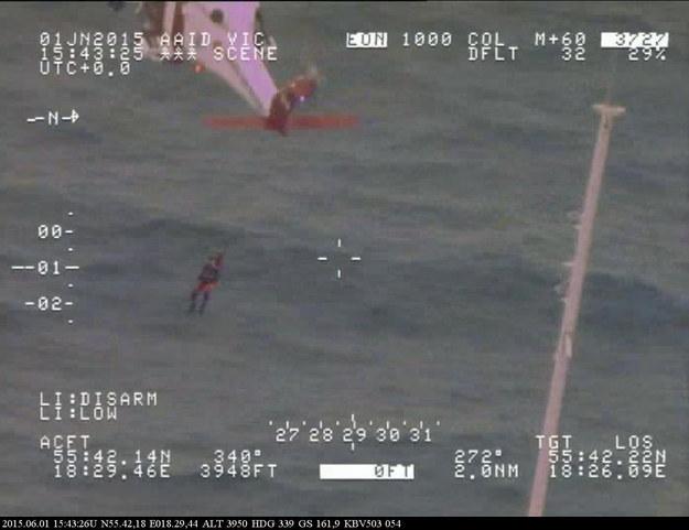 Akcja ratunkowa /Swedish Coast Guard KBV 503 /PAP/EPA