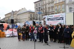 Akcja rękawiczka uczniów V LO w Krakowie