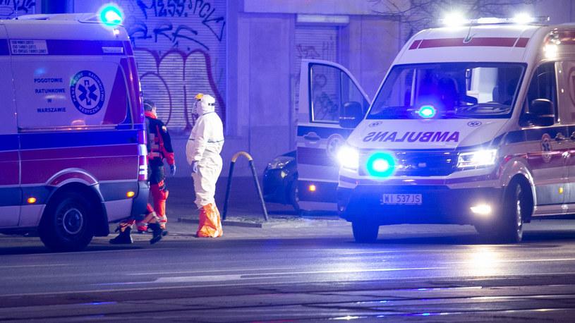 Akcja służb medycznych w Warszawie. /KRYSTIAN DOBUSZYŃSKI/GALLO IMAGES /