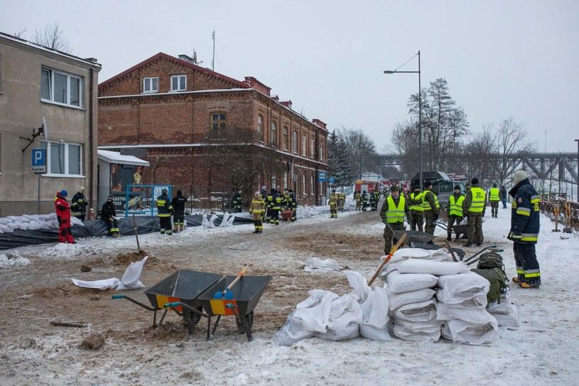 Akcja strażaków w Płocku /Szymon Łabiński /PAP