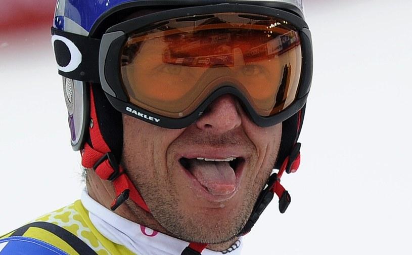 Aksel Lund Svindal na finiszu /AFP