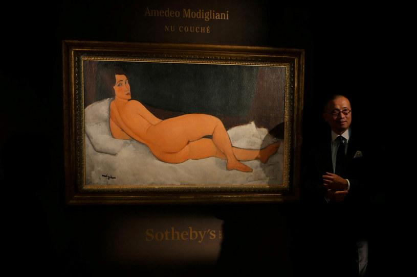 """""""Akt leżący"""" Amadea Modiglianiego /Venus Wu /Reuters"""