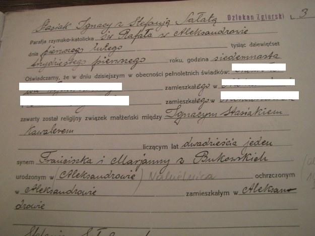Akt małżeństwa /Agnieszka Wyderka /RMF FM