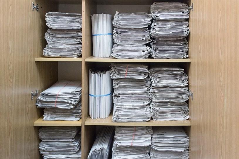 Akta sprawy liczą ponad tysiąc tomów /Łukasz Dejnarowicz /Agencja FORUM
