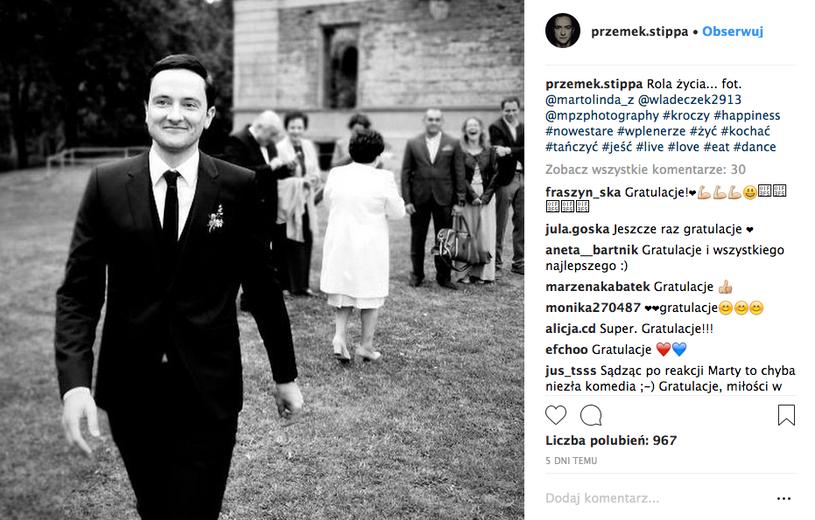 Aktor pochwalił się zdjęciami z własnego ślubu /Instagram /materiały promocyjne