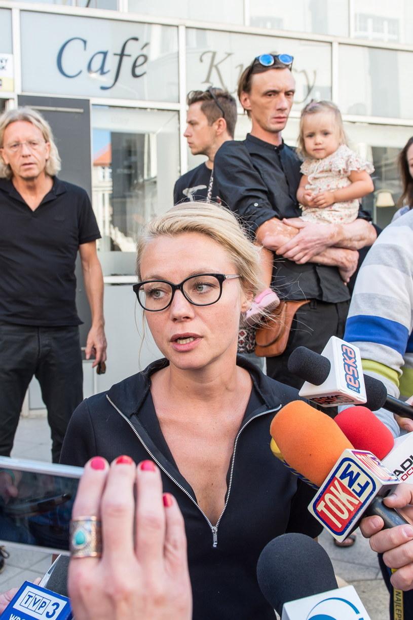 Aktorka Anna Ilczuk zapowiedziała kontynuację protestu /Maciej Kulczyński /PAP