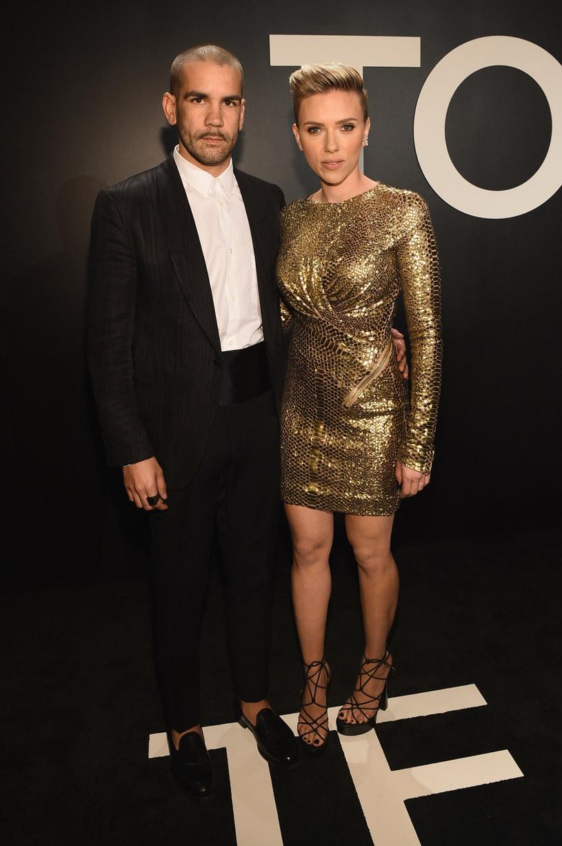 Aktorka z byłym mężem, Romainem Dauriacem /Michael Buckner  /Getty Images