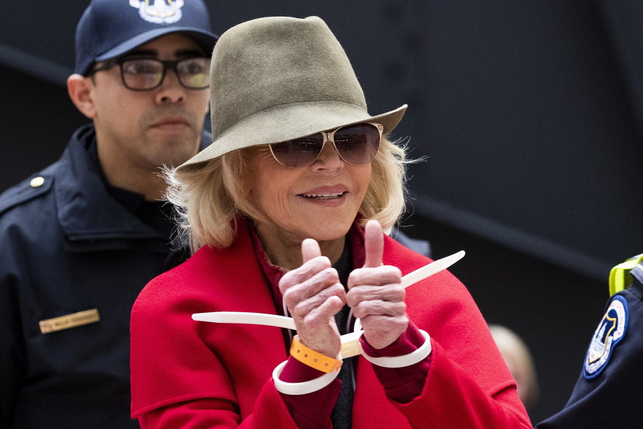 Aktorka została aresztowana za udział w strajku klimatycznym /MICHAEL REYNOLDS    /PAP/EPA