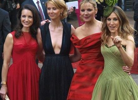 """Aktorki grające w """"Sex and the City"""" na światowej premierze filmu. Londyn, 12 maja 2008 /AFP"""