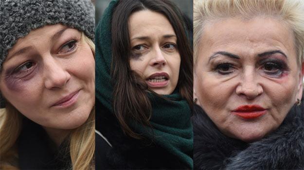 Aktorki Katarzyna Kwiatkowska, Renata Dancewicz oraz Hanna Bakuła - fot. R. Pietruszka /PAP