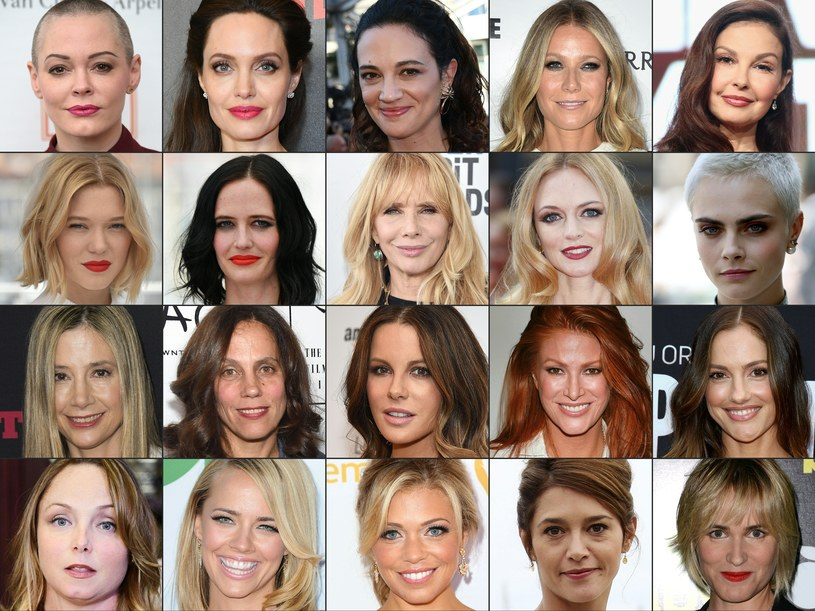 Aktorki oskarżające Harveya Weinsteina /AFP