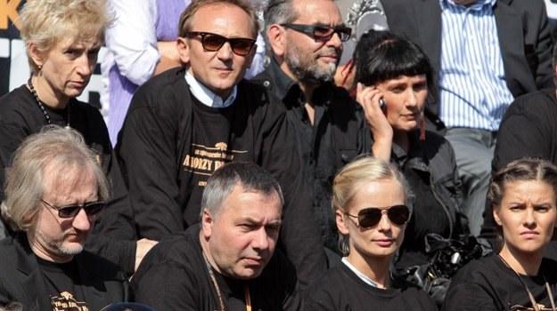 Aktorzy na planie szekspirowskiego widowiska, fot. Paweł Przybyszewski /MWMedia