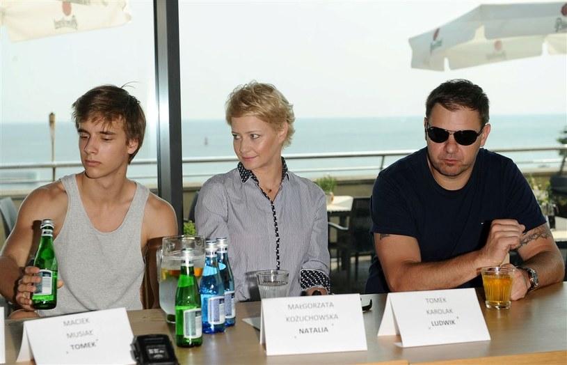 """Aktorzy """"rodzinki.pl"""" podczas konferencji prasowej. /Agencja W. Impact"""