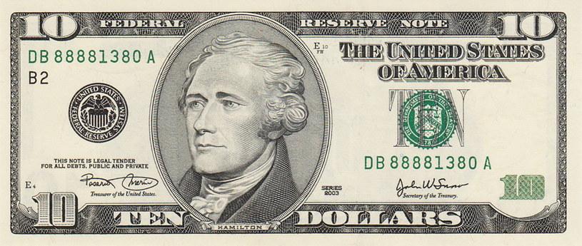 Aktualna 10-dolarówka z podobizną Alexandra Hamiltona /