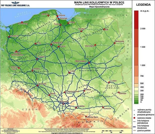 Aktualny stan sieci kolejowej w Polsce (fot. PKP PLK) /wnp.pl - portal gospodarczy