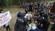 Aktywiści Greenpeace blokują wycinkę w Puszczy Białowieskiej