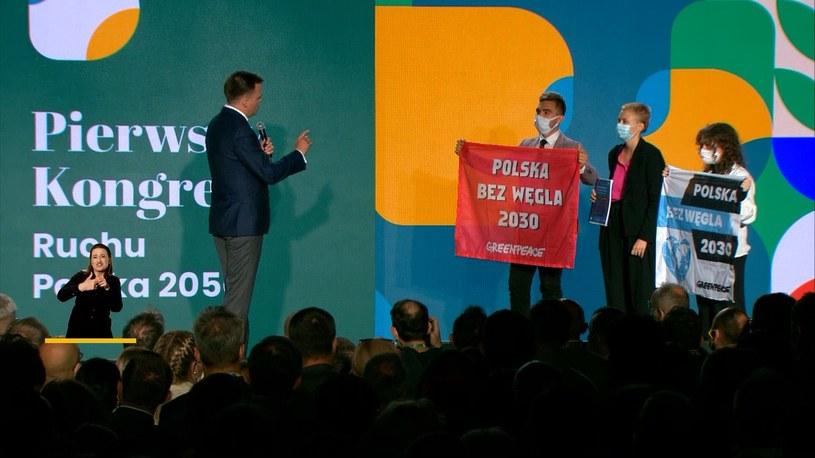 Aktywiści podczas kongresu Polski 2050 /Zdjęcie organizatora /YouTube