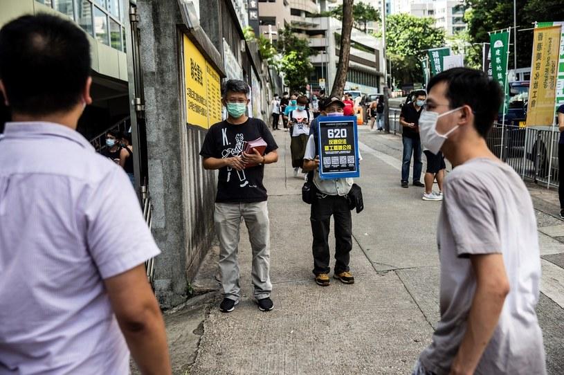 Aktywiści z Hongkongu namawiają do strajku przeciw nowemu prawu /AFP