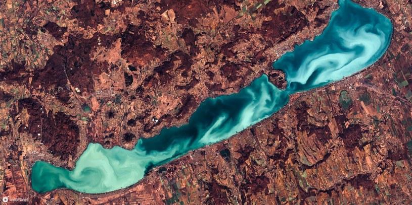 Akwen wodny z satelity -  Sentinel są w stanie dostarczyć tak spektakularnych zdjęć /materiały prasowe