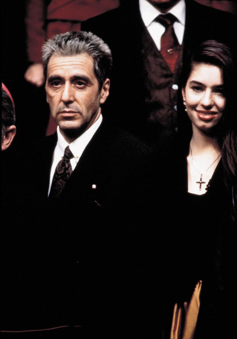 """Al Pacino i Sofia Coppola w """"Ojcu chrzestnym 3"""" /East News"""