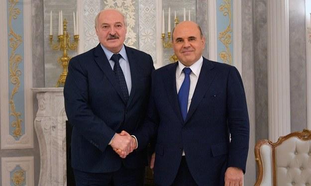 Alaksandr Łukaszenka i Michaił Miszustin /Alexander ASTAFYEV / SPUTNIK /PAP/EPA