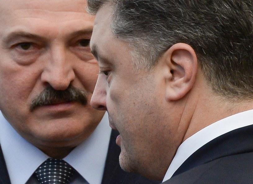 Alaksandr Łukaszenka i Petro Poroszenko /AFP